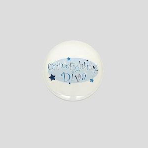 """""""Crimefighting Diva"""" [blue] Mini Button"""